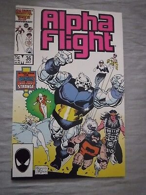Alpha Flight #36 Avengers Dr Strange Marvel 1986 Fine P&P Discounts
