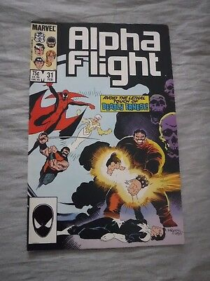 Alpha Flight #31 Deadly Ernest Marvel 1986 FN P&P Discounts
