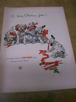 Original 1952 Texaco Christmas Magazine  Ad
