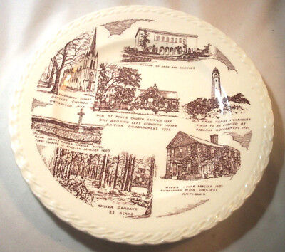 Vernon Kilns Souvenir Collector State Plate: VIRGINIA::NORFOLK: Red: GVC: NR