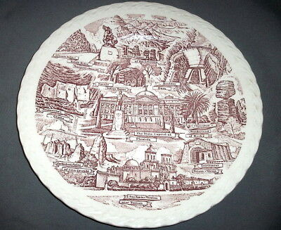 Vernon Kilns Souvenir Collector State Plate: ARIZONA: Red: EXC: NR