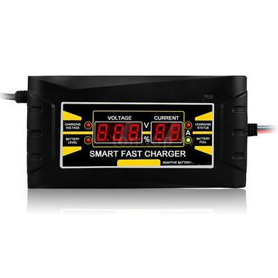 Full Automatic Smart 12V 10A Lead Acid/GEL Battery Charger w/ LCD Display X6Q3
