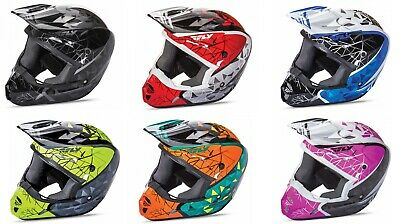 Fly Racing Adult 2017 Kinetic Crux Motocross MX ATV Helmet Sizes XS-2XL