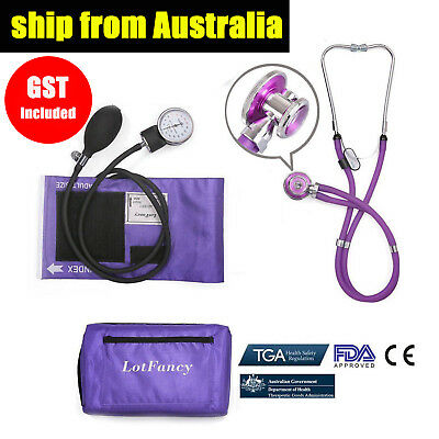 Aneroid Sphygmomanometer Stethoscope Cuff Dial Set Arm Blood pressure Monitor