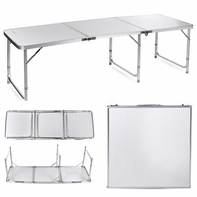 6Ft Heavy Duty Folding Trestle Table Outdoor/picnic/camping/bbq Banquet/party Uk