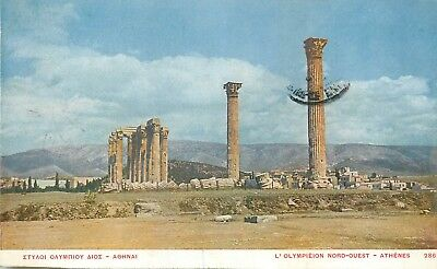 Cp Illustree Grece L'olympieion Nord-Ouest Athenes