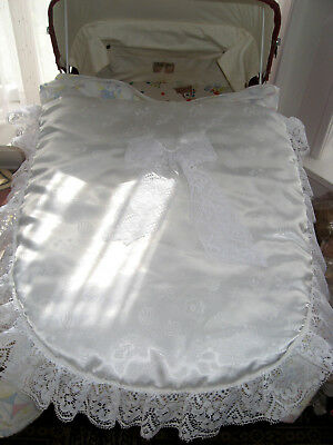 Pram Quilt Crib Cover Frilly Lacey Baby Traditional Nursery Print Romany Blanket