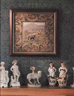 Sheep at Cwmcarvan Tapestry Needlepoint Chart in Colour Sarah Windrum Ehrman Des