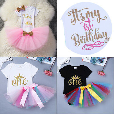 19a4d1caba303 1ST BIRTHDAY OUTFITS for Baby Girl Princess First Birthday Outfits ...