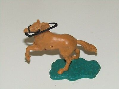 Old Vintage Timpo Toys light brown horse with reins for wild west cowboy indian