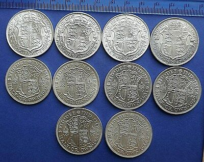 George V Half-Crown 0.925 or 0.500 Silver 1911 to 1936 - GEF or B/Ucirculated