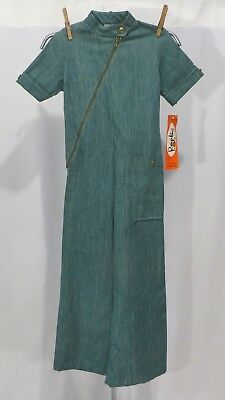 Vintage 70s Girls Jumpsuit Pants Side Zipper NWT Dead Stock sz 7