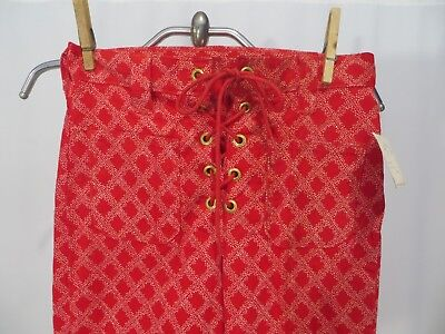 Vintage 70s Girls Pants Slacks Bell Bottoms Lace Up Corduroy NWT sz 10