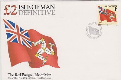 GB - ISLE OF MAN 1994 Ships Definitives £2 Manx Red Ensign Flag SG 556 FDC