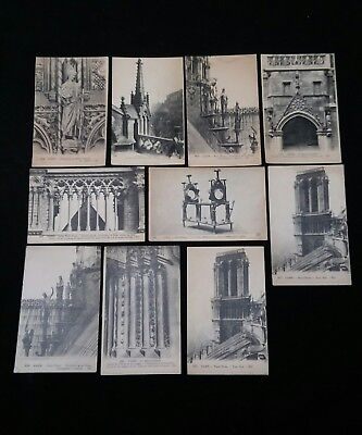 Vintage French Postcards Lot of 10 Antique WWII Era Photos Unposted France