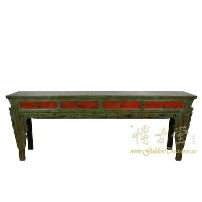 Antique Chinese 4 Drawers Painted Long Sofa Table/Console Table