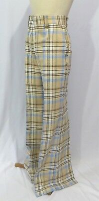 Vintage Pants  Ms Lee Plaid Bell Bottoms Pants NWT sz 16 High Waist