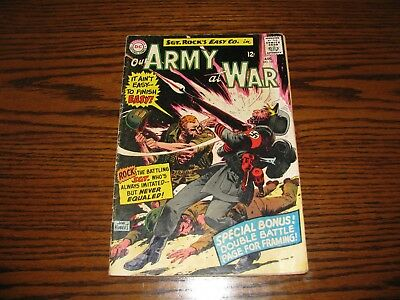 DC - OUR ARMY AT WAR SGT ROCK #157 - Pin-Up Page Intact!! Glossy VG/VG+ 1965