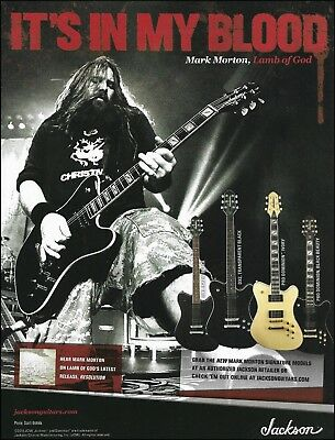 Lamb of God Mark Morton Signature Jackson guitar series ad 8 x 11 advertisement