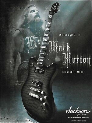 Lamb of God Mark Morton Signature Model Jackson guitar ad 8 x 11 advertisement