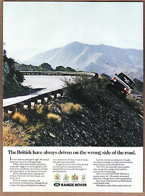 "1991 Range Rover Ad ""The British have always..."" Print Ad"