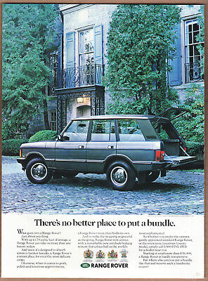 """1990 Range Rover Ad """"There's no better..."""" Print Ad"""