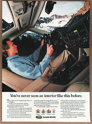 "1994 Range Rover Ad ""You've never seen..."" Print Ad"