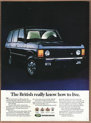"1994 Range Rover Ad ""The British really know..."" Print Ad"
