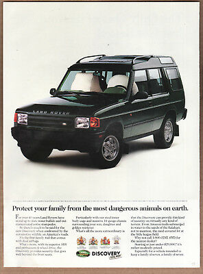 "1994 Land Rover Ad ""Protect your family..."" Print Ad"