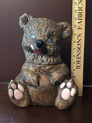 Vintage Gilner Bear Cookie Jar 1950's (448)