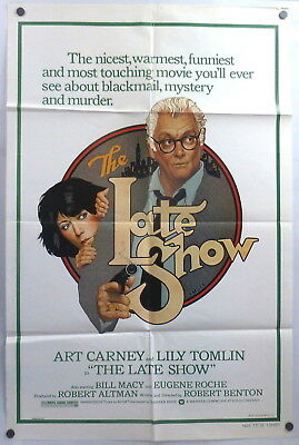 Lily Tomlin The Late Show Art Carney Original 1970s 1 Sheet Movie Poster