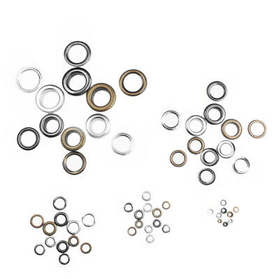 Metal Eyelets with Grommet Dia.2mm~6mm for DIY Scrapbooking Cap Leathercraft