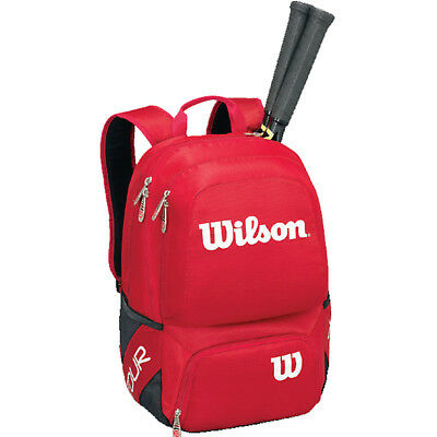 Wilson Tour Molded LG Backpack Tennis Racquet Sport Bag WRZ843695 Red