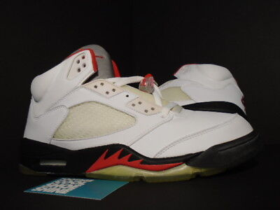 2787cf9f9d2c 1999 2000 Nike Air Jordan V 5 Retro WHITE BLACK FIRE RED SILVER 136027-101