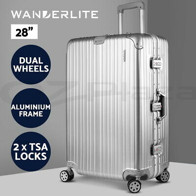 Wanderlite Luggage Sets 28 Suitcase Set TSA Hard Case Lightweight Aluminum