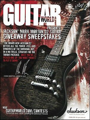 Lamb of God Mark Morton Signature Jackson D2 Guitar Giveaway Sweepstakes 8x11 ad