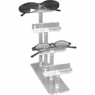 Two Findingking Eyeglass Displays Clear Acrylic 4 Tier Showcases
