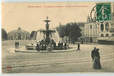 8678 - Troyes - Le Boulevard Gambetta / Cirque Et Fontaine Agence