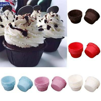 50 Pcs Paper Coloured CUPCAKE CASES Cake Baking Cup Muffin Dessert Wedding Party