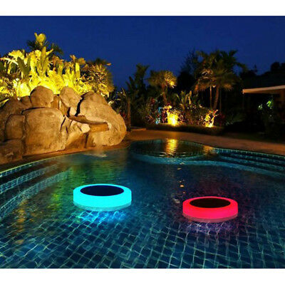 Swimming Pool Floating Lights RGB LED Color Change Solar Underwater Lights