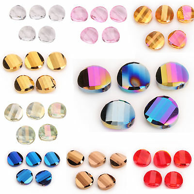 18mm 10pcs Charm Glass Crystal Round Flat Spacer Loose Beads Jewelry New Design