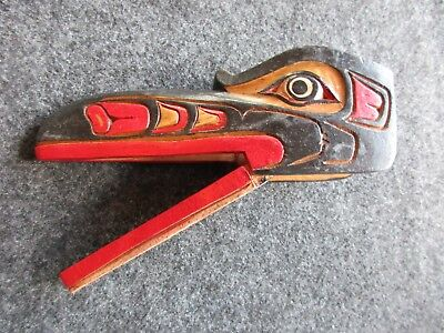 Northwest Coast Ceremonial Mask, Articulated Wooden Raven Mask,   Wy-01903A