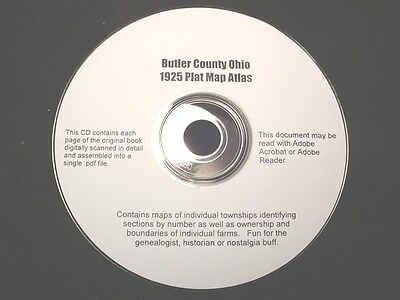 CD ~ 1930's Butler County Ohio Plat Map Book