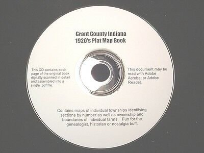 CD ~ 1930's Grant County Indiana Plat Map Book