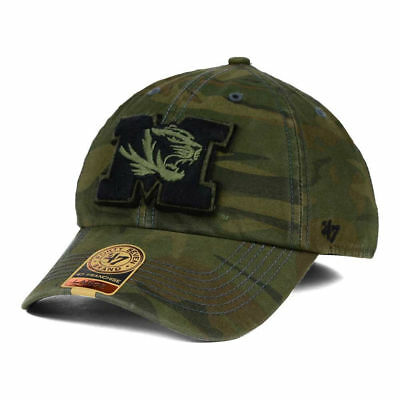 huge discount 59174 1105e Missouri Tigers NCAA Movement Camo Franchise Fitted Baseball Hat Cap Mens  Mizzou