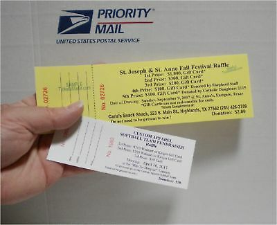 150 RAFFLE or EVENT TICKETS DRAWINGS Large Size / HEAVY WEIGHT Thick Stock BEST