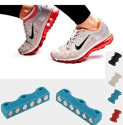 1 Pair Sneaker Magnetic Shoe Buckles Casual Shoe Laces Closure Shoelaces Buckles