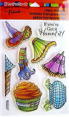 New Stampendous WITCHY LEGS Clear Stamps Halloween Cauldron Witch Hat Cupcake