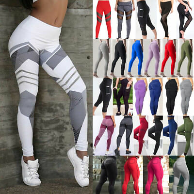 UK Womens Athletic Gym Yoga Activewear Ladies Running Pants Trousers Leggings20