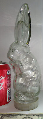 Vintage RARE empty BOTTLE candy sweets container flask rabbit bunny hare shaped